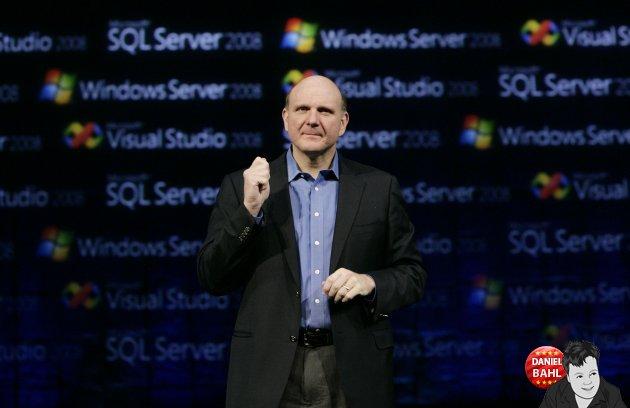 Steve Ballmer fra en Microsoft messe