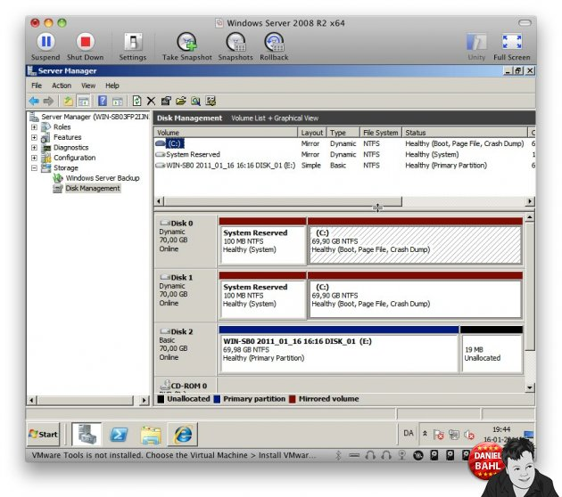 RAID1 Software RAID1 Mirrored Volume