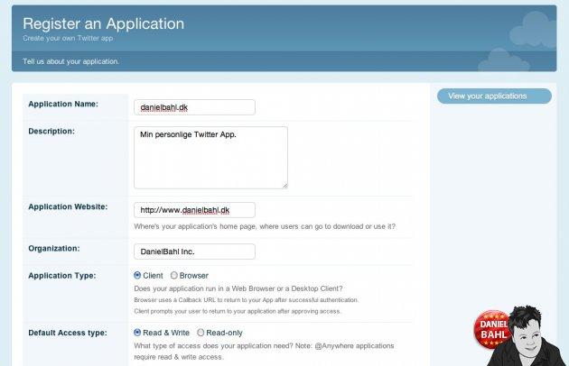 Sådan registerer din Twitter Apps - det er gratis og nemt
