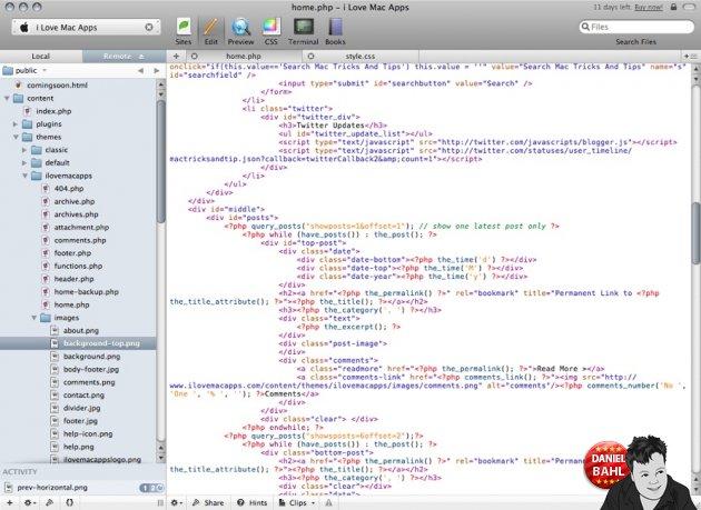 Coda HTML View med farver