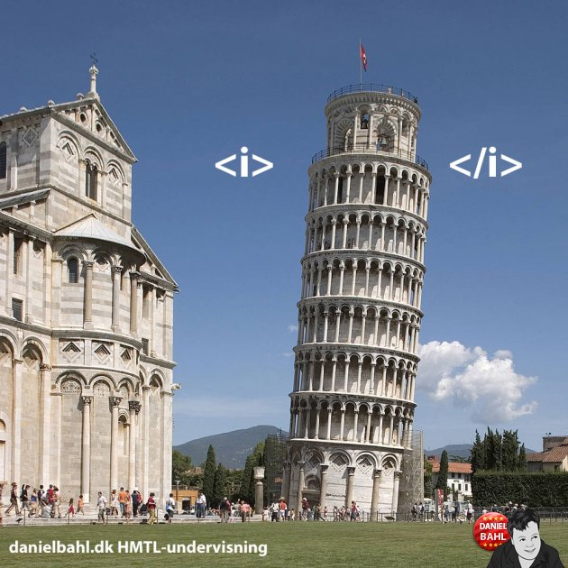 HTML Tag - Italic - Kursiv