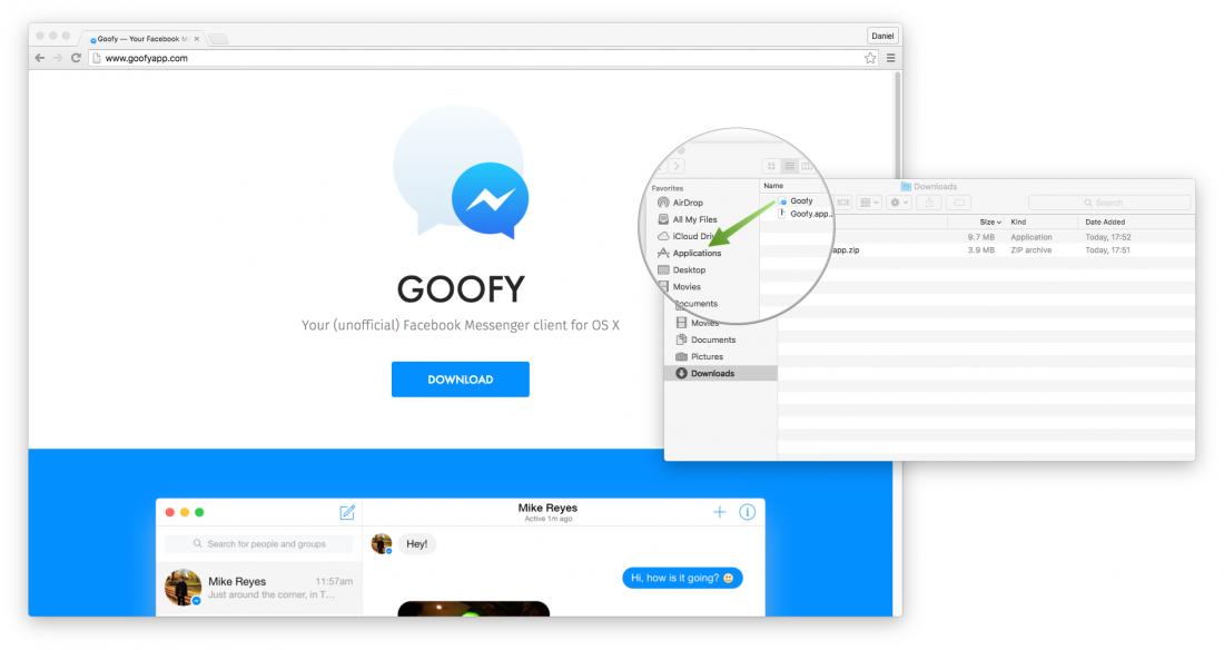 Goofy App installation