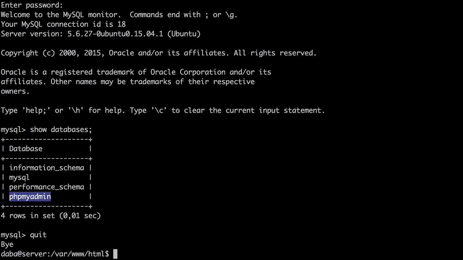 Installer og opsæt Apache, PHP, MySQL og phpmyadmin