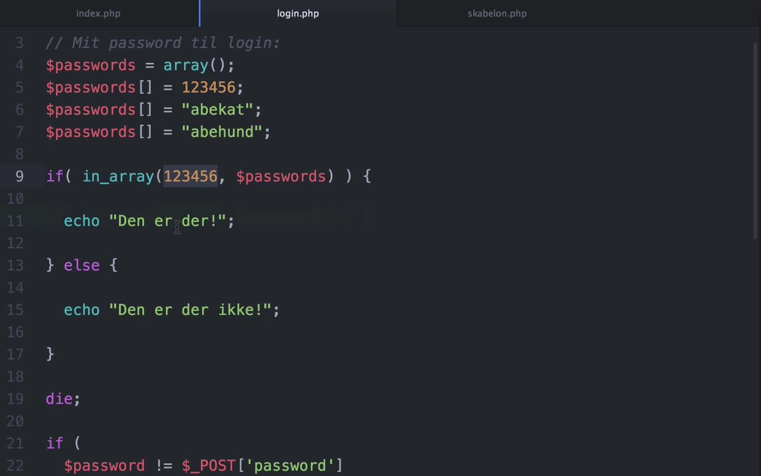 Projekt: Byg en formular i PHP - Del 3 af 3