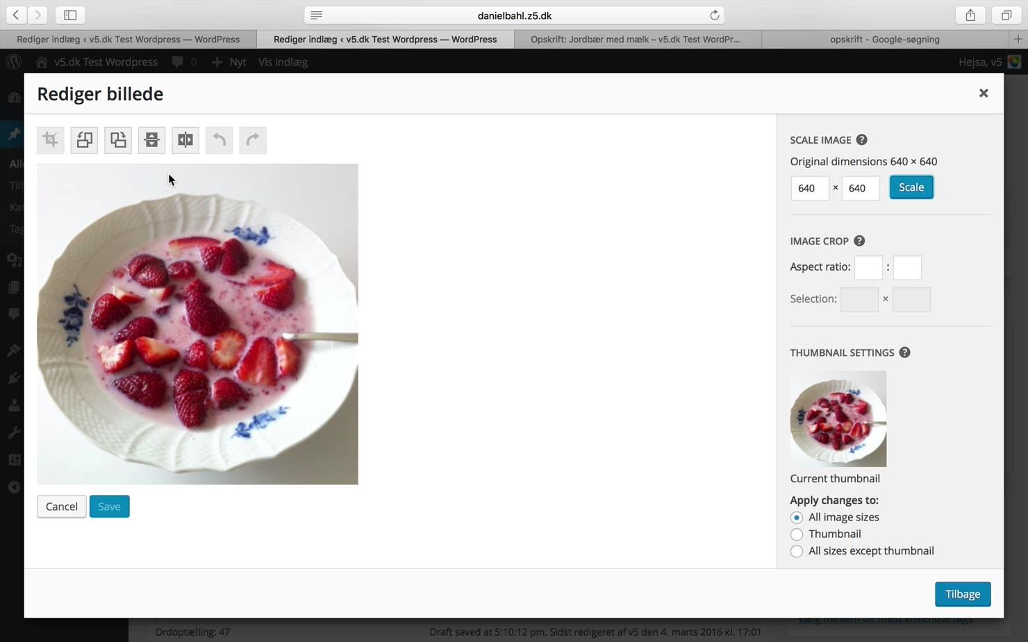 Billeder i WordPress
