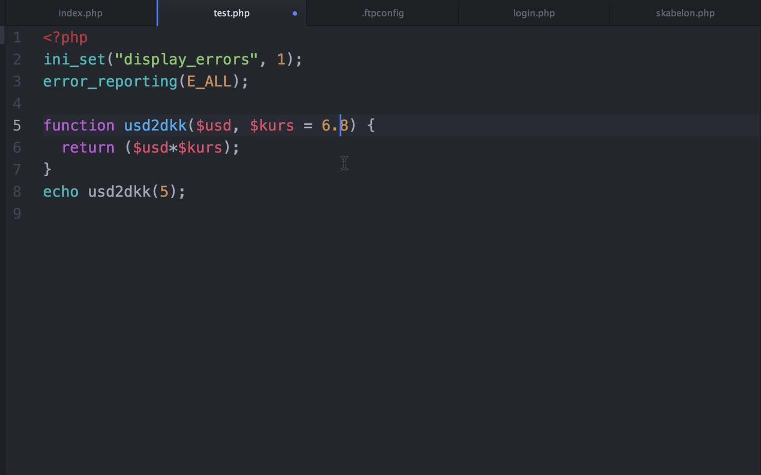 Funktioner i PHP