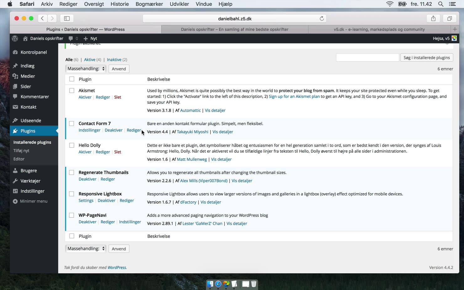 Dine første plugins i WordPress