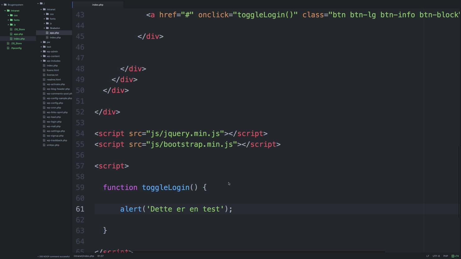 Brug Javascript/jQuery til at lave en