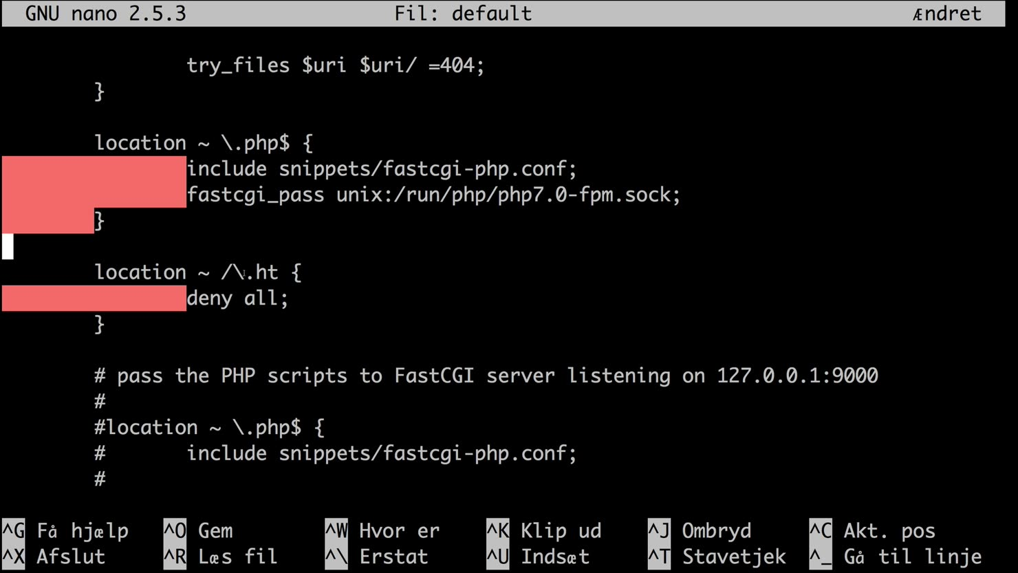 Installer og opsæt nginx med PHP7 og MySQL