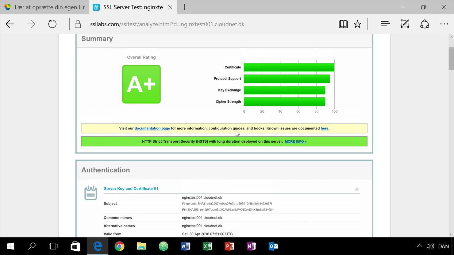 Opsætning af SSL-certifikat (Lets Encrypt) i vores nginx-webserver