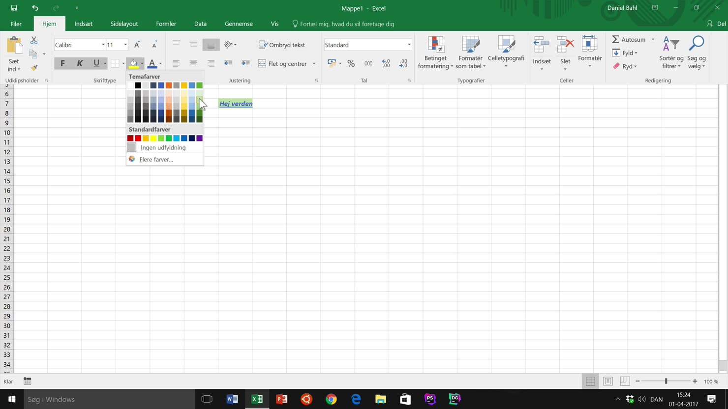 Tilpas Excel til din skærm og enhed