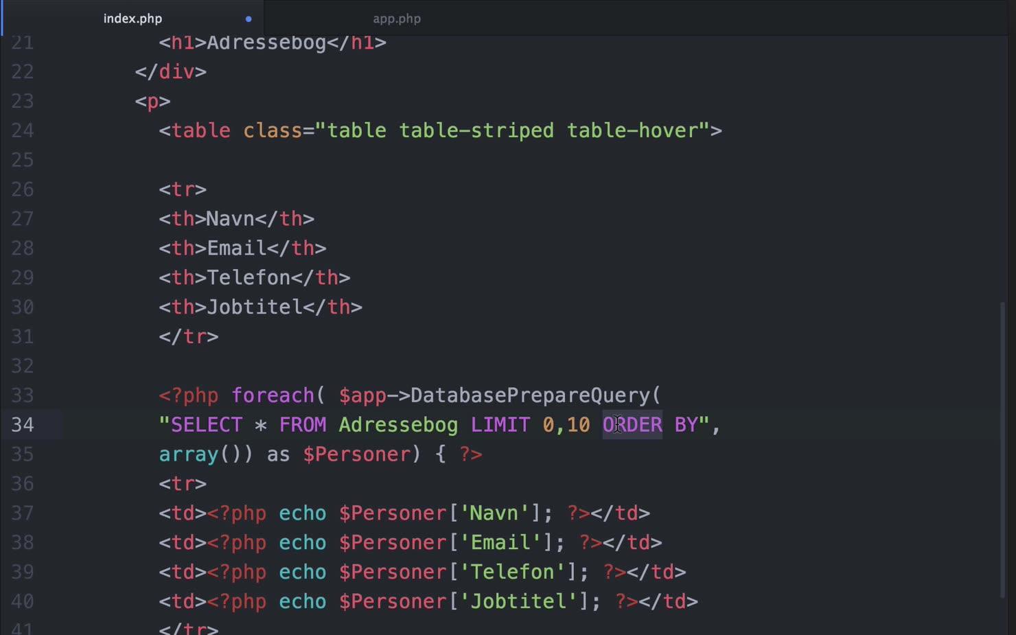 SQL-sproget: LIMIT og ORDER BY