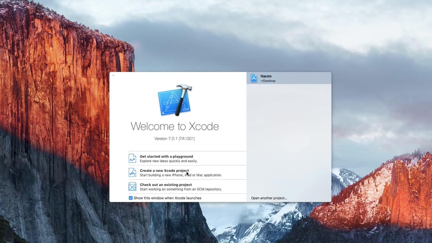 Opret dit første projekt i Xcode