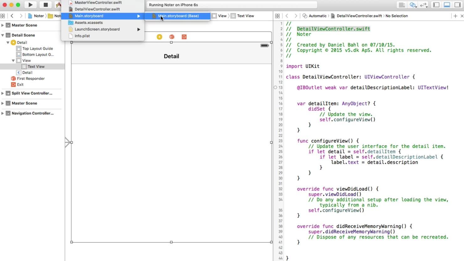 Link imellem UI og kode