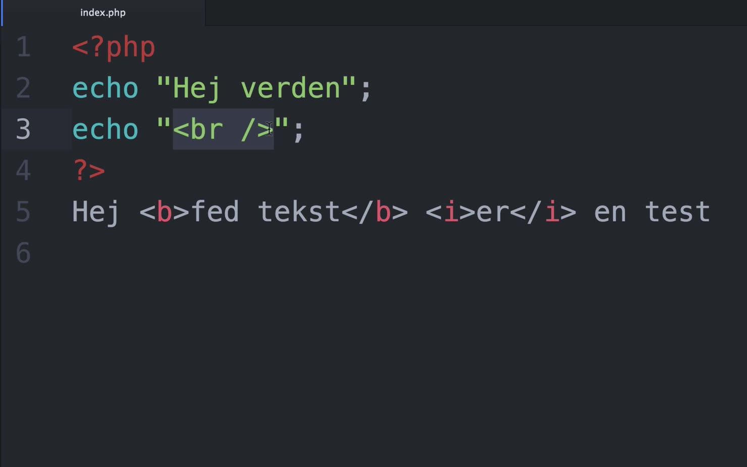 Lær din første kommando i PHP