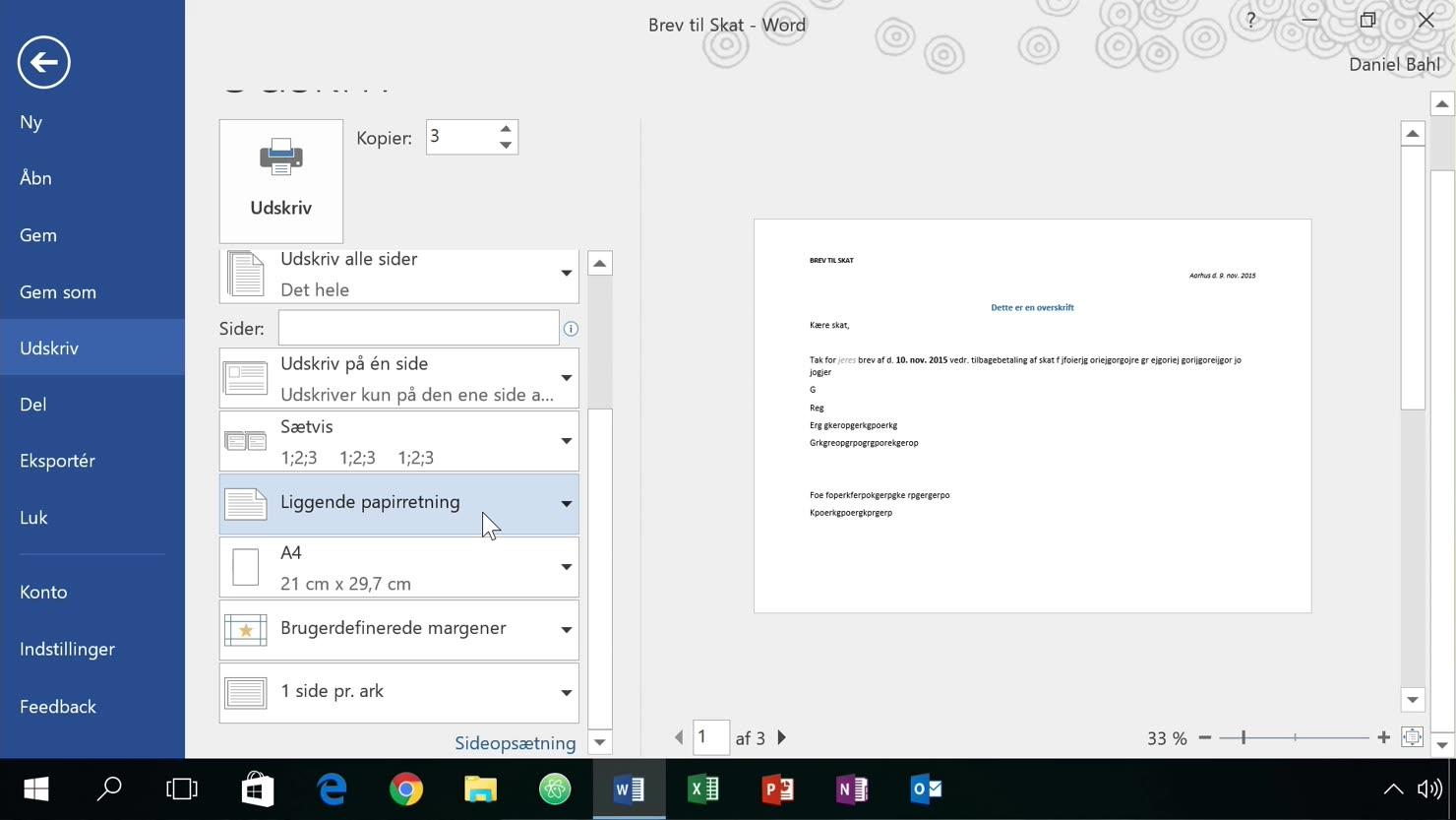 Sådan udskriver du dine dokumenter til printeren