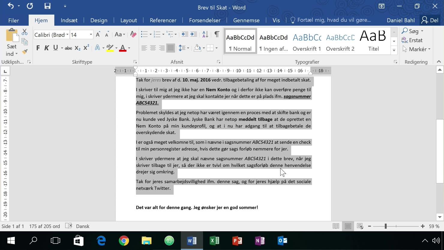 Justeret tekst og linje-afstand for mere læsevenlige dokumenter