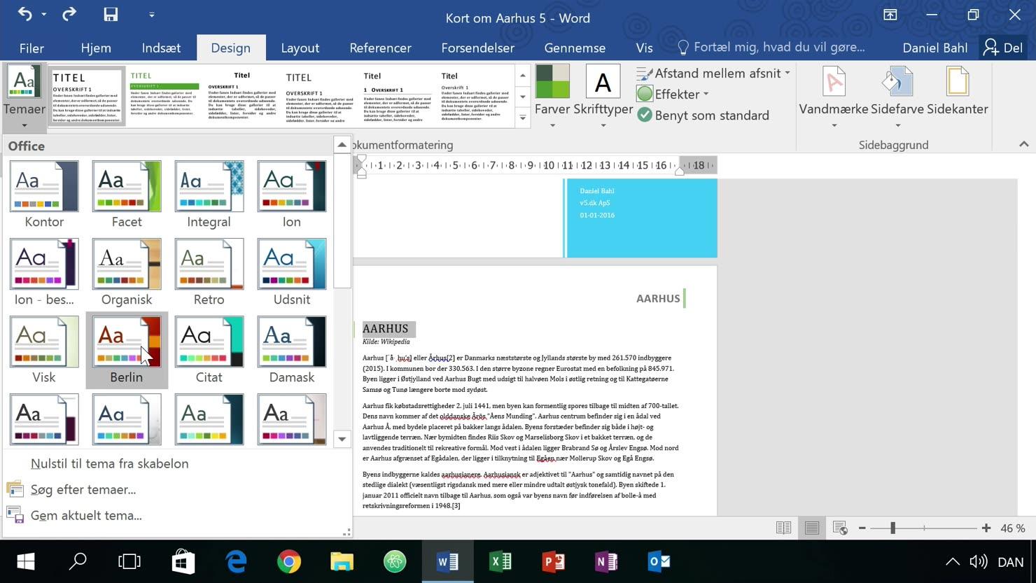Egne typografier med tema-farver og tema-skrifttyper