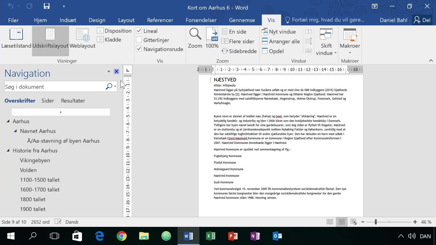 Navigationsrude - få overblikket over dit dokument