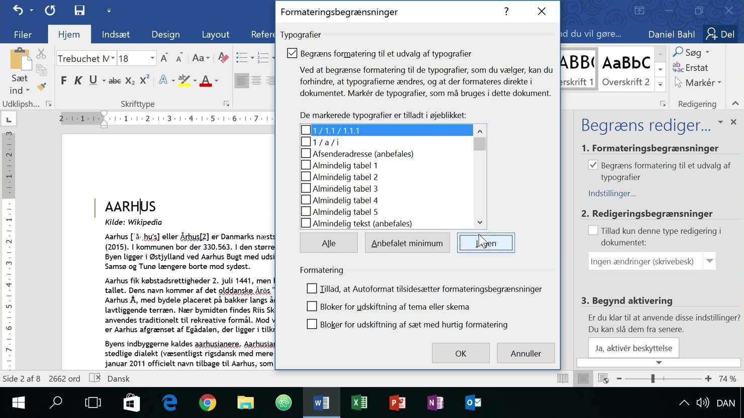 Beskyttet dokument: Lås et dokuments formatering ned når du deler med andre