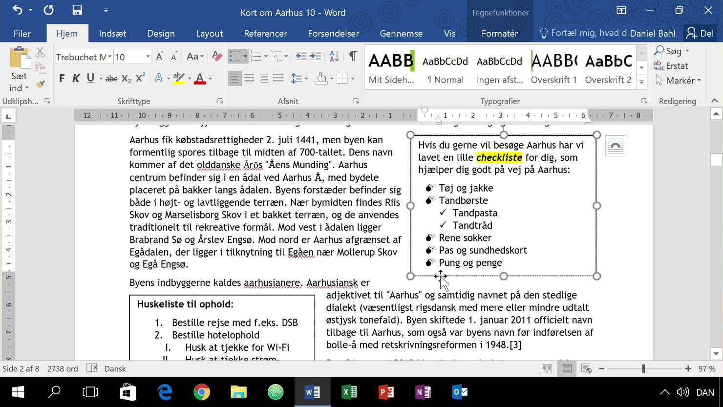 Punktopstillinger med symboler og billeder fra computer eller Internet