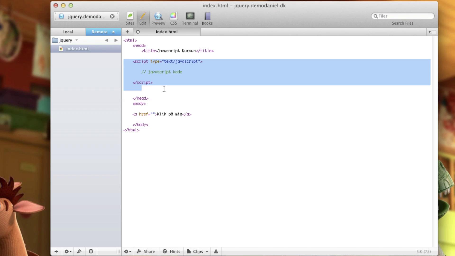 jQuery: Javascript og variabler