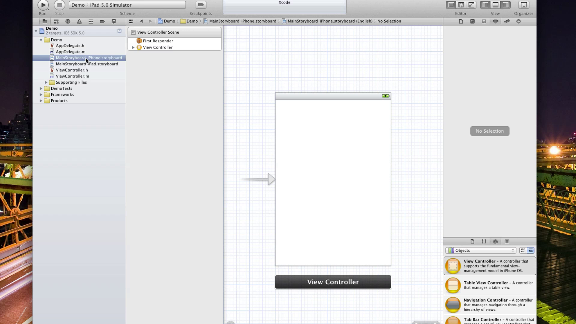 Xcode 4.2 og Storyboards