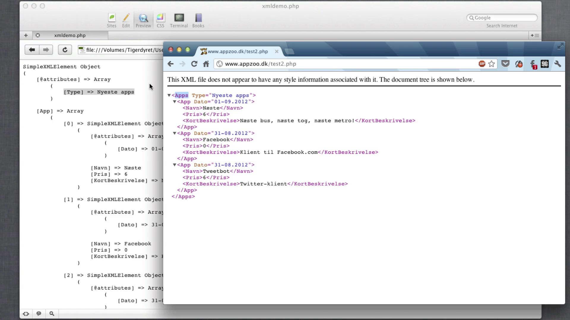 PHP: Læs XML-feeds