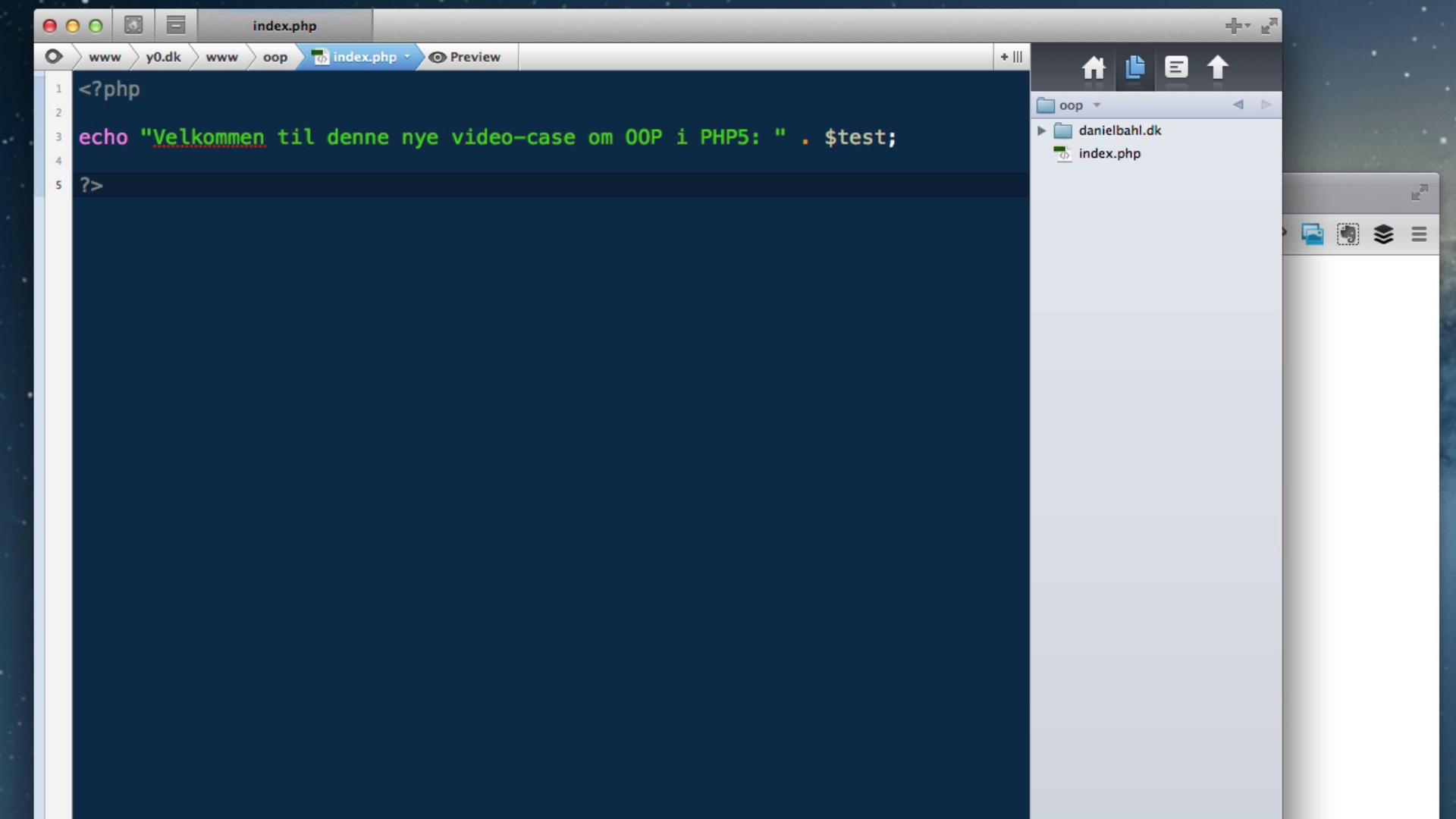 PHP5 OOP (Objektorienteret) - Del 2