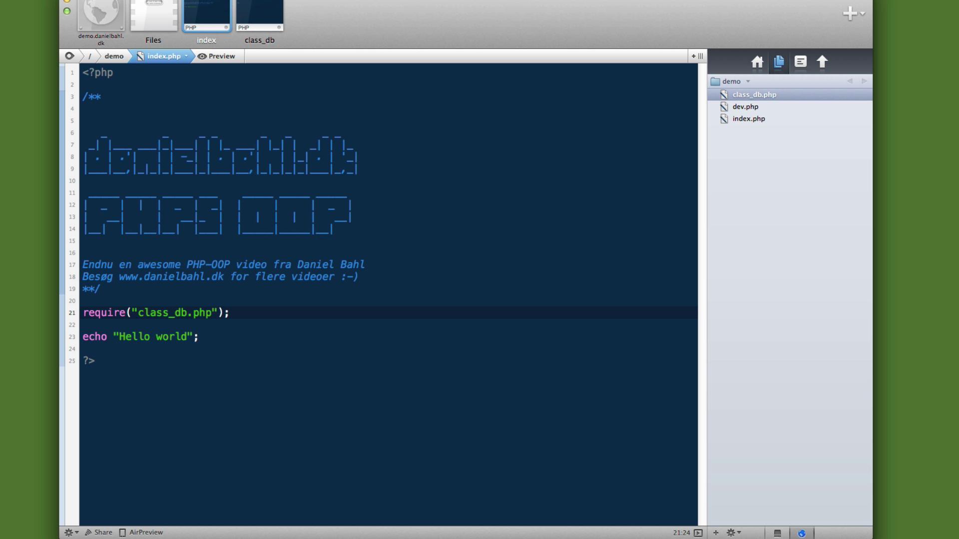 PHP5 OOP (Objektorienteret) - Del 5