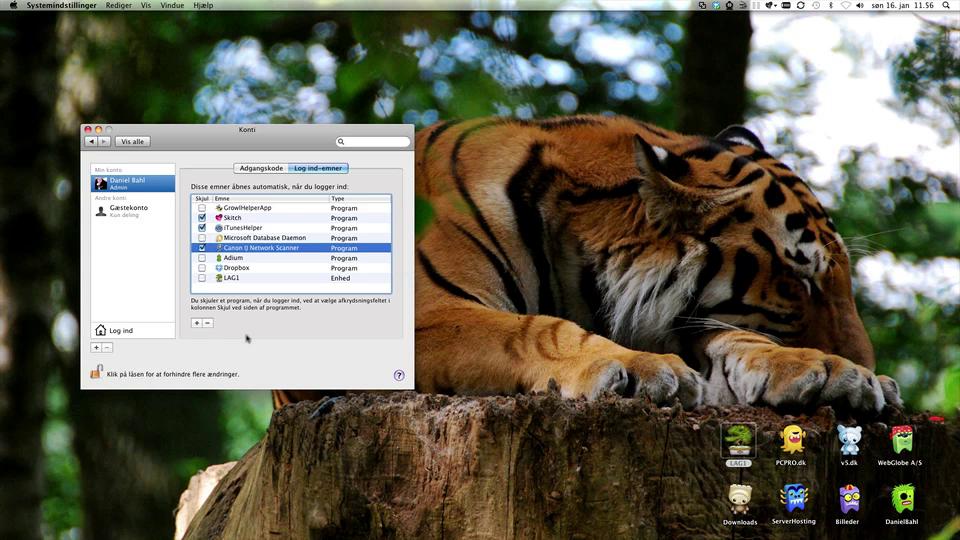 Automount netværksdrev i Mac OS X