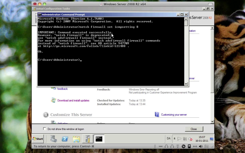 Windows Server 2008 - Netværk, Ping og Firewall