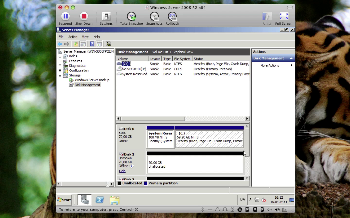 Windows Server 2008 - Windows Server Backup