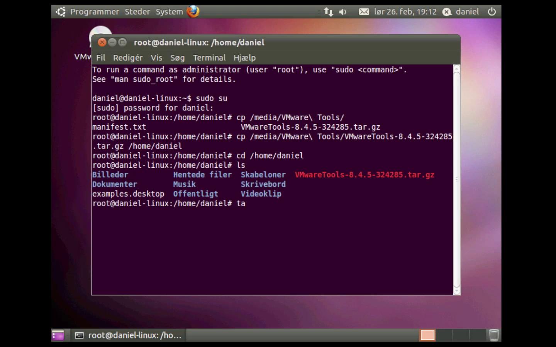 Ubuntu Linux i VMware