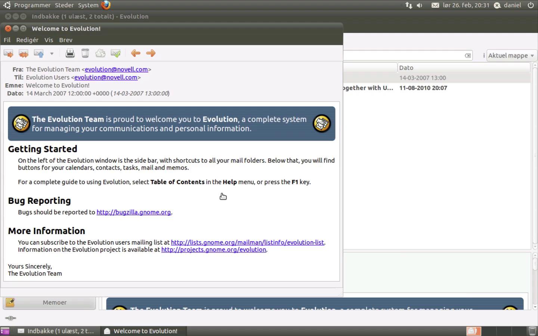 Ubuntu Linux og e-mail