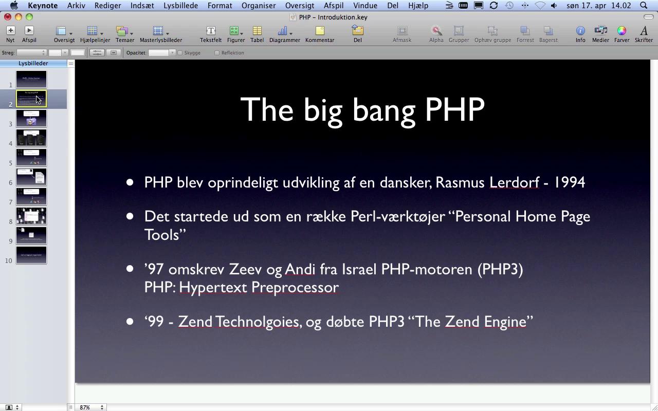 Live Screencast om PHP5 - Del 1 af 2